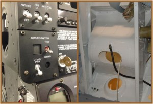 Compressor Plenum Inspection Panel (Right) & Auto Re-Ignition Switch (Left)